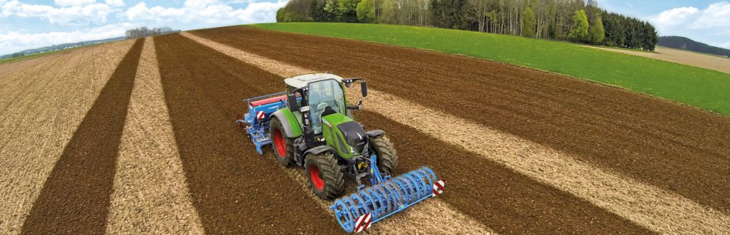 Tractor ploughing a paddock