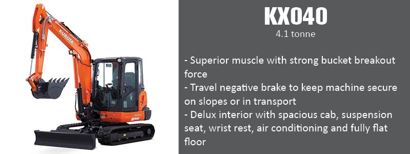 Kubota KX040 Excavator Benifits