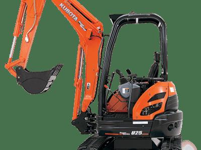 U25-4 - 2.5 tonne excavators