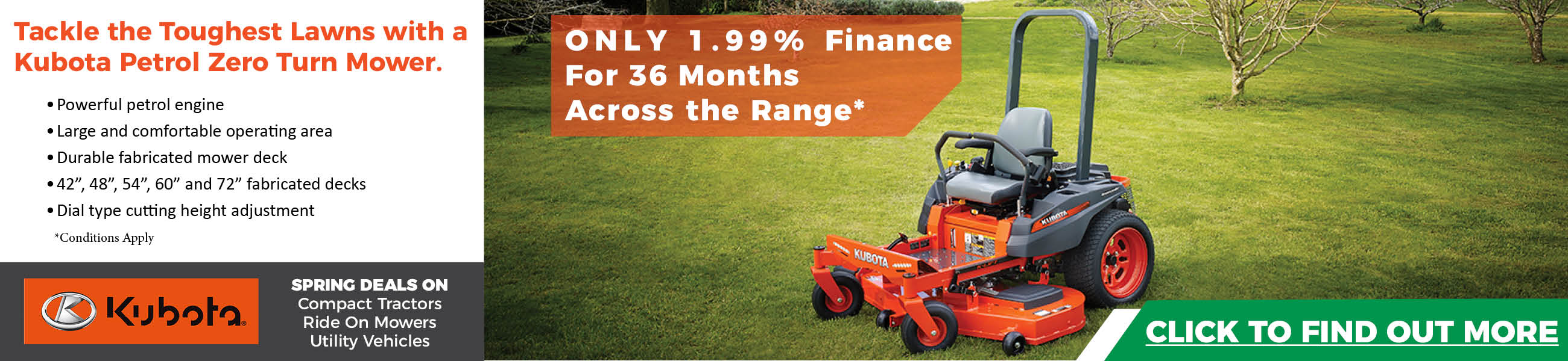 Kubota Zero Turn Special Deal