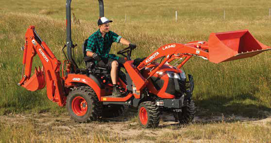 Kubota BX series small compact tractor digging