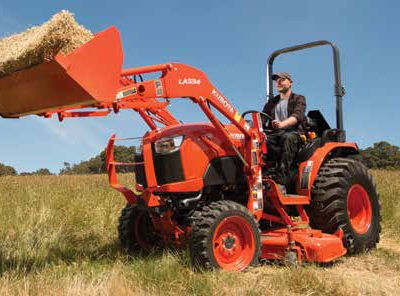 Kubota BX compact tractor with loader