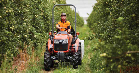 Kubota B series vineyard tractor