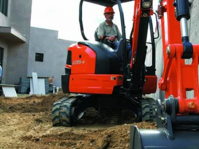Kubota U Series mini excavator