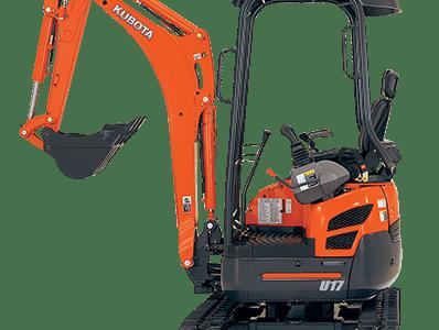 Kubota mini excavator digger U17