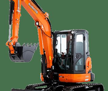 Kubota mini excavator digger U55