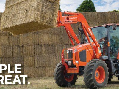 Kubota M110GX Tractor Triple Threat