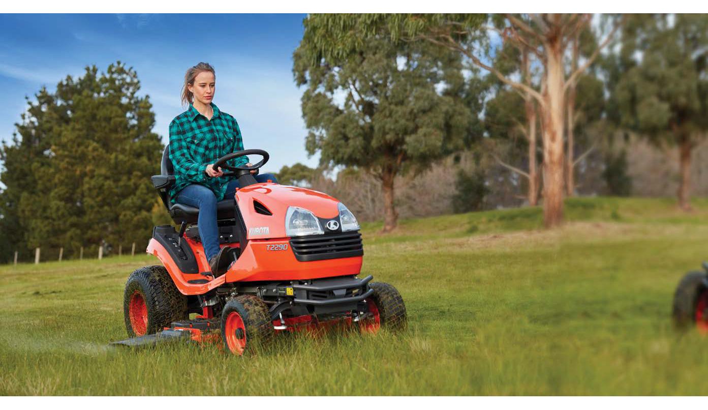 T Series ride on lawn mower kubota