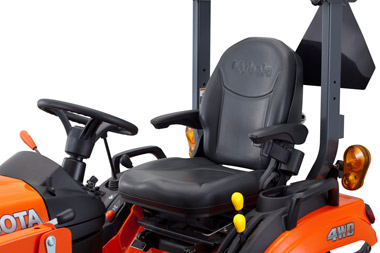 BX series small compact tractor comfort layout