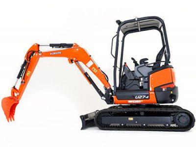 Kubota mini excavator digger U27