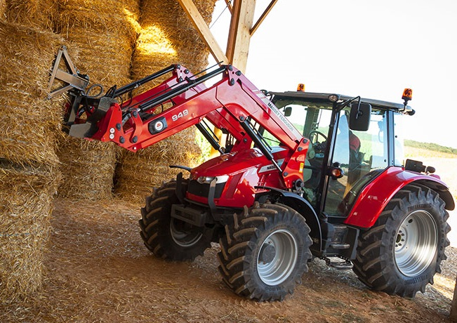 Massey Ferguson Tractor with loader and baler