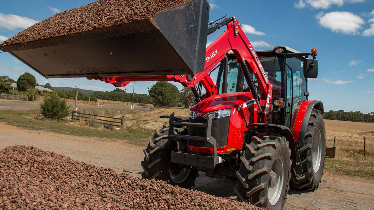 Massey ferguson mid size tractor with loader
