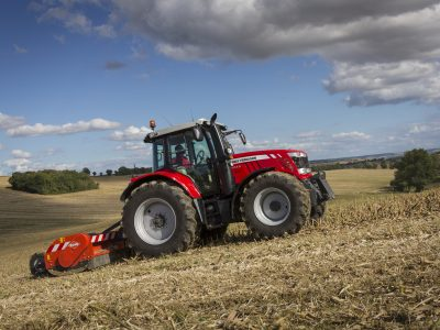 6700 SL series tractor with implement cultivator