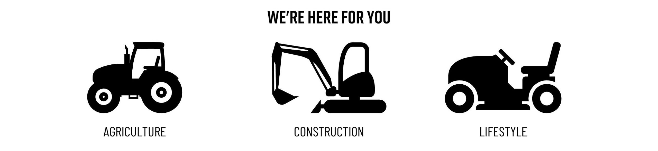Agriculture, Construction, Lifestyle Equipment Icons